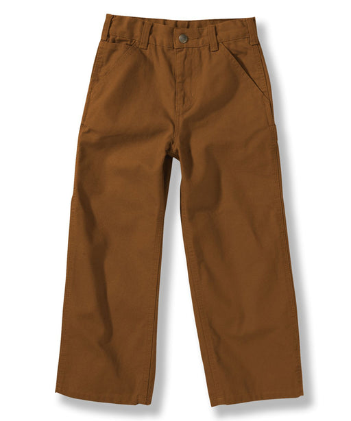 Carhartt Toddler Washed Canvas Duck Dungaree (2T-4T) in Carhartt Brown at Dave's New York