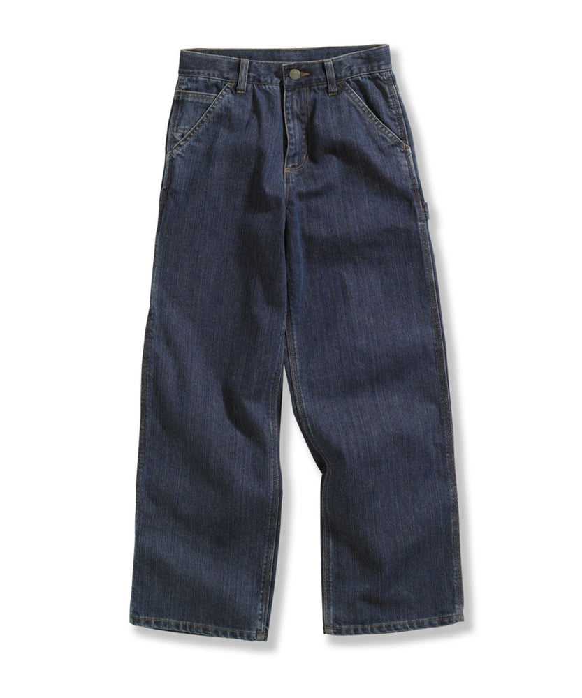 Carhartt Boys Washed Denim Dungaree - Worn In Blue