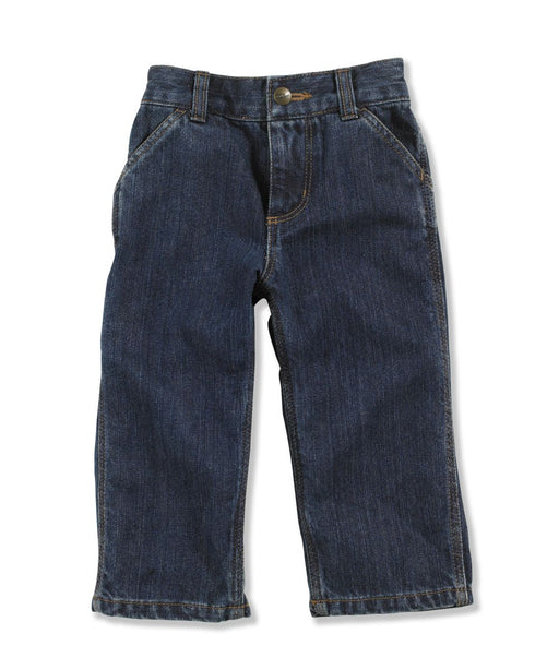 Carhartt Toddler Washed Denim Dungaree (2T-4T) - model CK8348- Worn In Blue