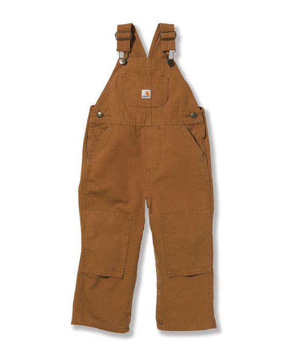 Carhartt Toddler Washed Canvas Duck Bib Overalls (2T-4T) - model CM8609 - Carhartt Brown