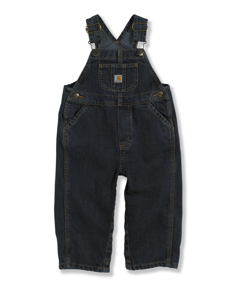 Carhartt Toddler Washed Denim Bib Overalls (2T-4T) - model CM8648 - Worn In Blue