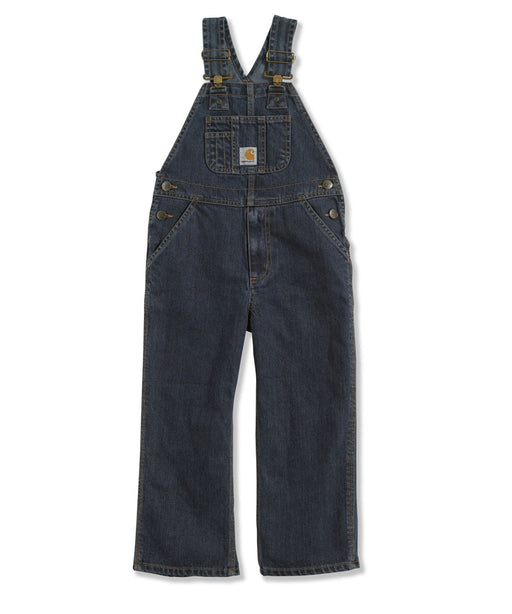 Carhartt Boys Washed Denim Bib Overalls - Worn In Blue