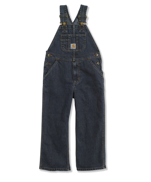 Carhartt Boys Washed Denim Bib Overalls (4-16) – model CM8647 – Worn In Blue
