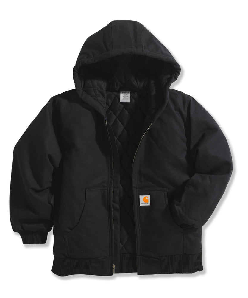 Carhartt Kids Active Jac - Flannel Quilt Lined - CP8417 - Black