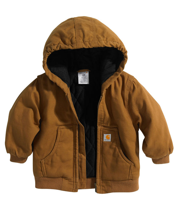 Carhartt Toddler Active Jac - Flannel Quilt Lined (2T-4T) - CP8430 - Carhartt Brown