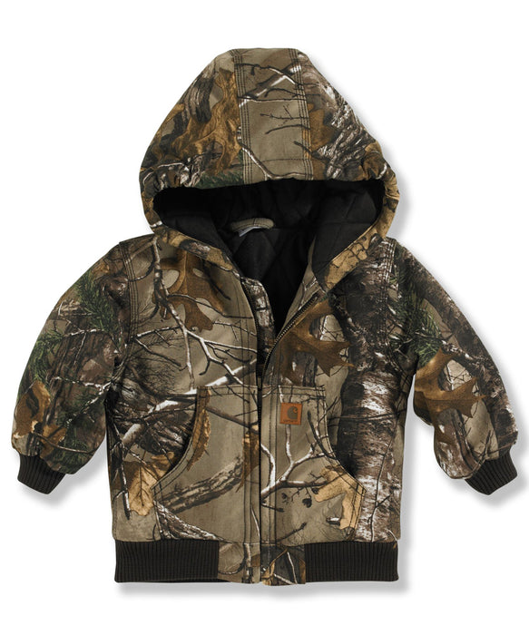 Carhartt Toddler Flannel Quilt Lined  Camo Active Jac - RealTree Xtra