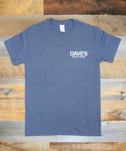 Dave's New York Short Sleeve Work Logo T-Shirt - Heather Navy