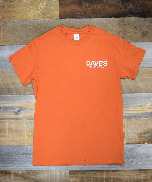 Dave's New York Work Logo Short Sleeve T-Shirt - Texas Orange
