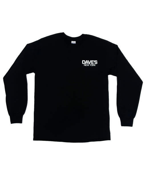 Dave's New York Work Logo Long Sleeve T-Shirt - Black