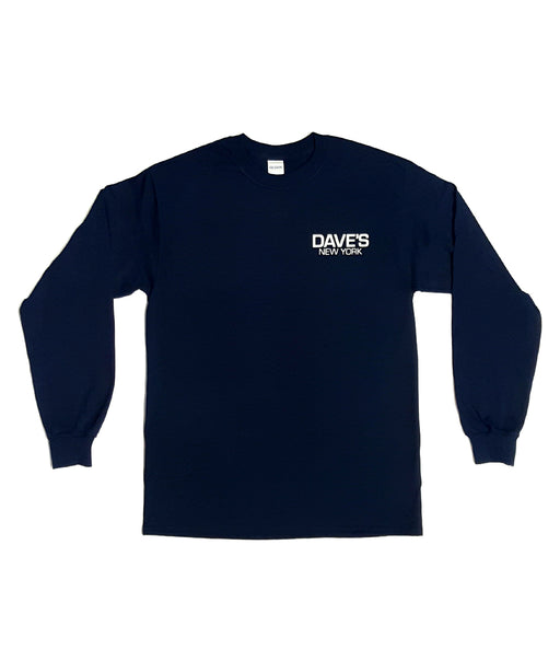 Dave's New York Work Logo Long Sleeve T-Shirt - Navy