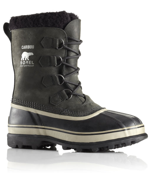 Sorel Men's Caribou Winter Boots in Black at Dave's New York