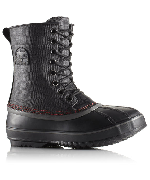 Sorel Men's 1964 Premium T CVS Boot (model NM1560) – Black, Sail Red