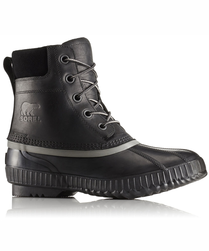 Sorel Men's Cheyanne II Lace Winter Duck Boots in Black, Black at Dave's New York