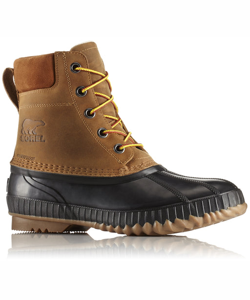 Sorel Men's Cheyanne II Lace Winter Duck Boots in Chipmunk, Black  at Dave's New York