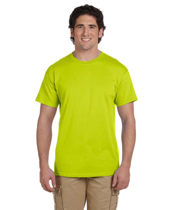 Gildan G200 Short Sleeve Ultra Cotton T-Shirt in Safety Yellow Hi-Vis at Dave's New York