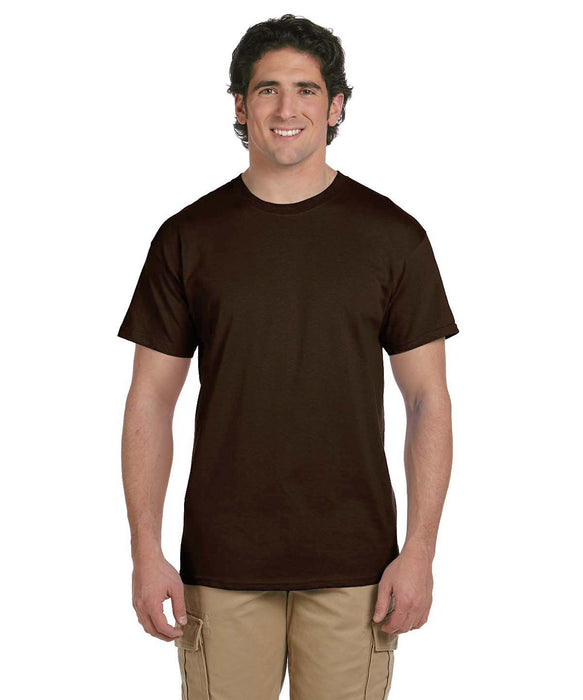 Gildan G200 Short Sleeve Ultra Cotton T-Shirt in Dark Brown at Dave's New York