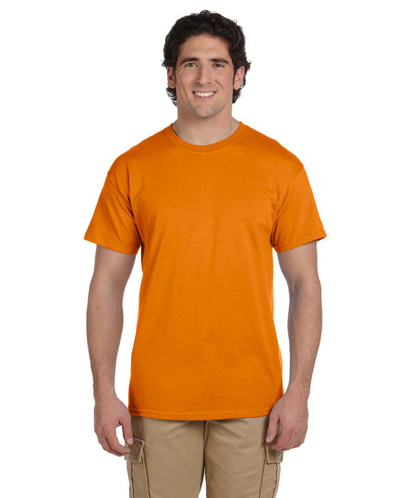 Gildan G200 Short Sleeve Ultra Cotton T-Shirt in Safety Orange Hi-Vis at Dave's New York