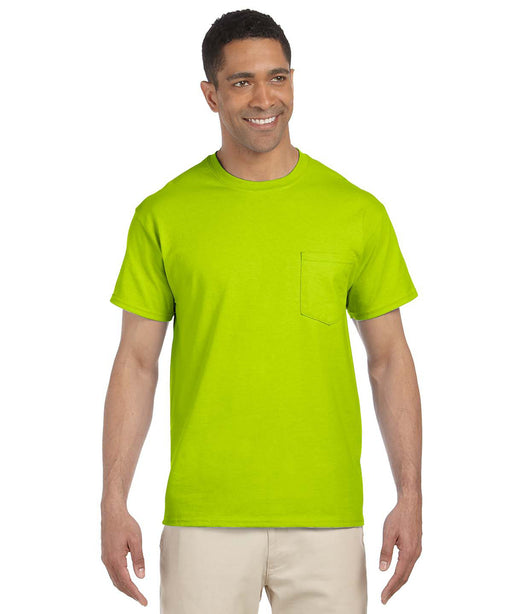 Gildan Short Sleeve Ultra Cotton Pocket T-Shirt – Safety Green
