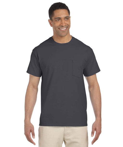 Gildan Short Sleeve Ultra Cotton Pocket T-Shirt – Charcoal Grey