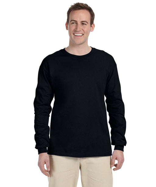 Gildan G240 Long Sleeve Ultra Cotton T-Shirt in Black at Dave's New York