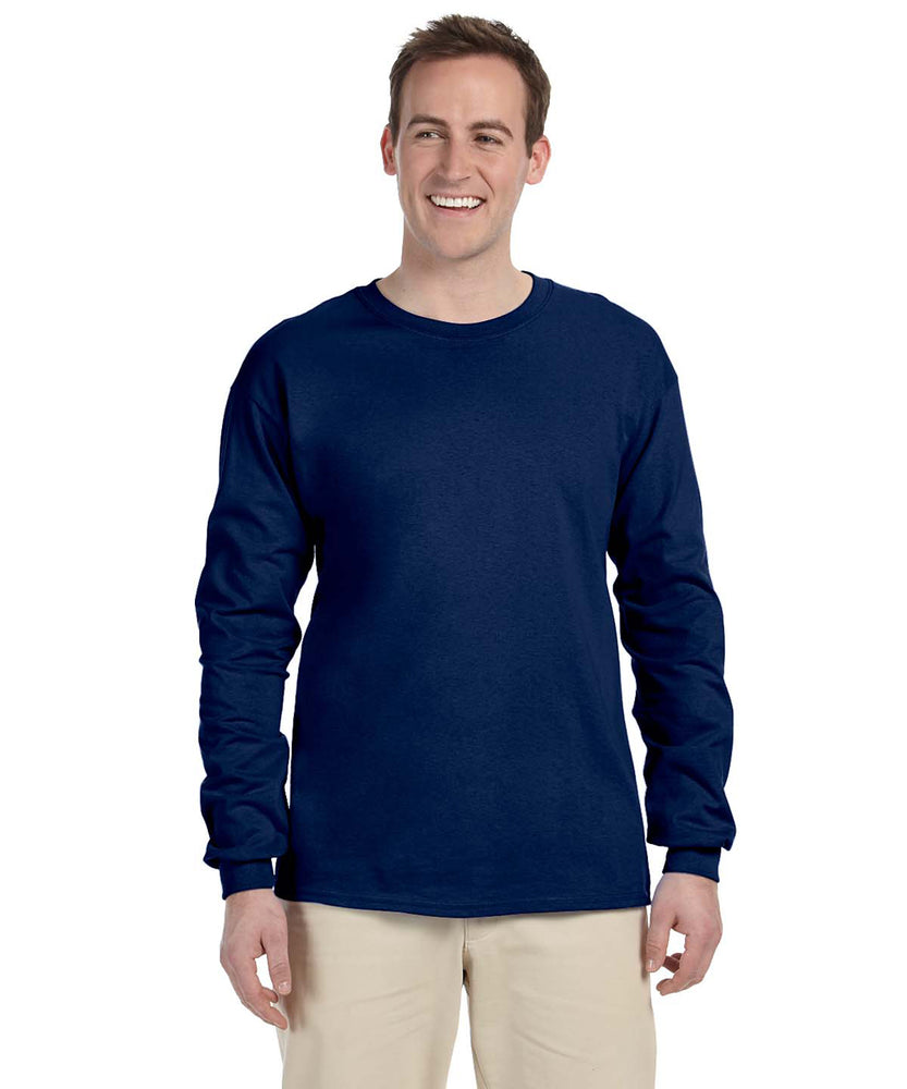 Gildan G240 Long Sleeve Ultra Cotton T-Shirt in Navy at Dave's New York