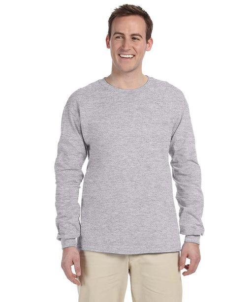 Gildan G240 Long Sleeve Ultra Cotton T-Shirt in Sport Grey at Dave's New York
