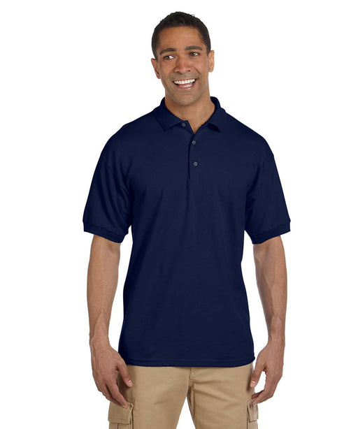 Gildan G380 Men's Ultra Cotton Pique Polo Shirts in Navy at Dave's New York