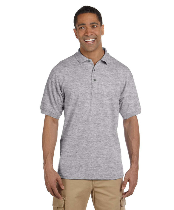 Gildan Men's Ultra Cotton 6.5-ounce Pique Polo Shirts – Heather Grey