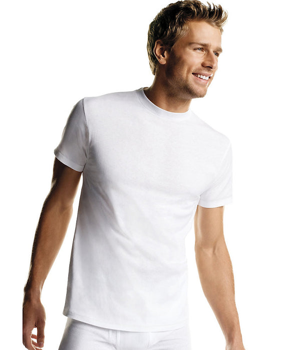 Hanes Men's Crew Neck Undershirt in White at Dave's New York