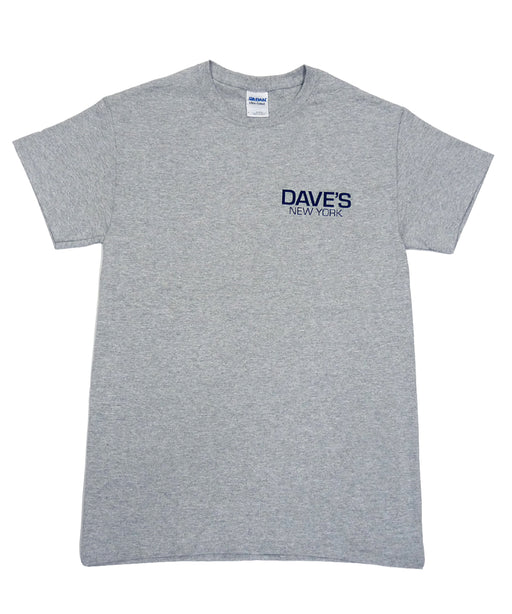 Dave's New York Short Sleeve Work Logo T-Shirt - Heather Grey