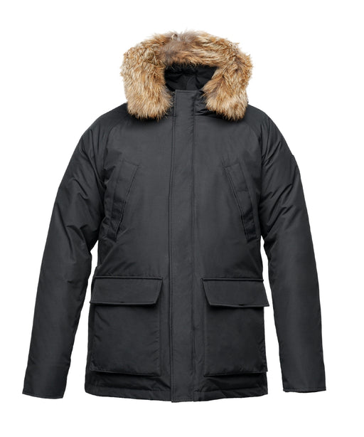 Nobis Men's Heritage Down Insulated Parka in Black at Dave's New York