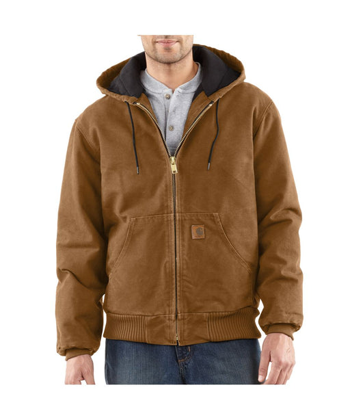 Carhartt J130 Quilt-Flannel Lined Sandstone Active Jac - Carhartt Brown