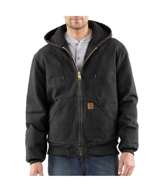Carhartt Quilt-Flannel Lined Sandstone Active Jac in Black at Dave's New York