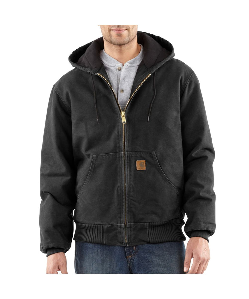 Carhartt Quilt-Flannel Lined Sandstone Active Jac - Black