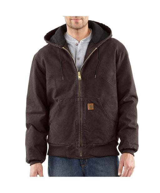 Carhartt J130 Quilt-Flannel Lined Sandstone Active Jac - Dark Brown