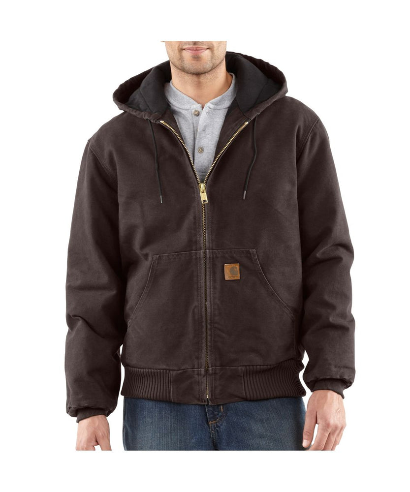 Carhartt Quilt-Flannel Lined Sandstone Active Jacin  Dark Brown at Dave's New York