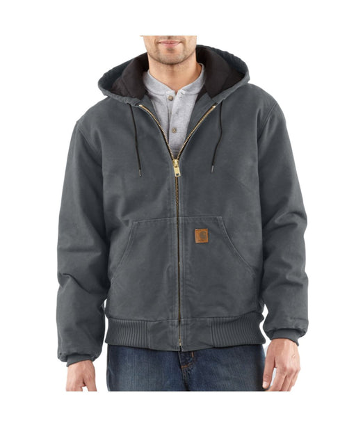 Carhartt Quilt-Flannel Lined Sandstone Active Jac - Gravel