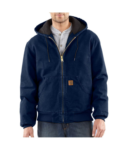 Carhartt J130 Quilt-Flannel Lined Sandstone Active Jac - Midnight