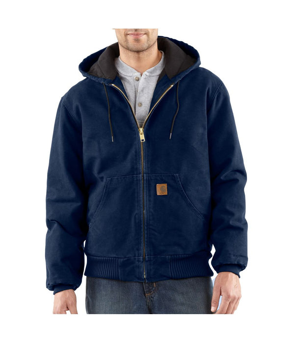 Carhartt Quilt-Flannel Lined Sandstone Active Jac - Midnight