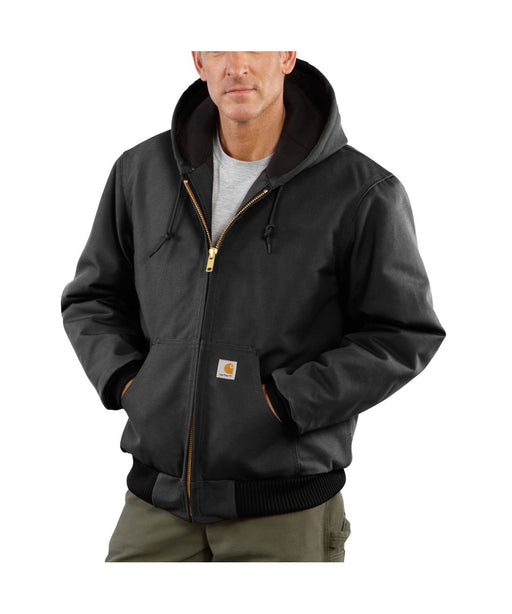 Carhartt J140 Quilt-Flannel Lined Duck Active Jac - Black