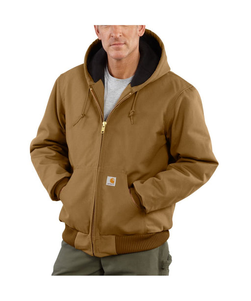 Carhartt Quilt-Flannel Lined Duck Active Jac - Carhartt Brown