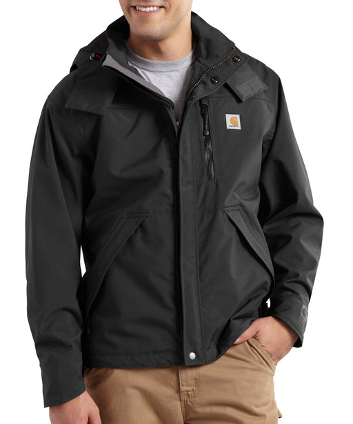 Carhartt Men's Shoreline Waterproof Jacket in Black at Dave's New York