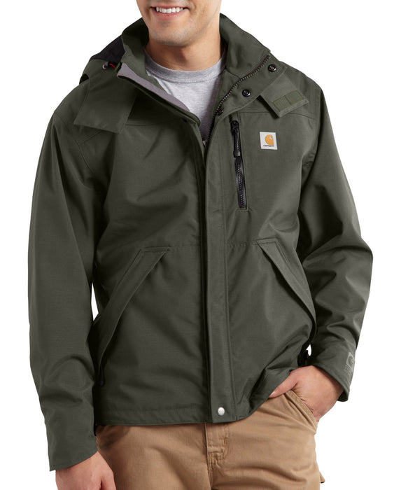 Carhartt Men's Shoreline Waterproof Jacket (model J162) – Olive
