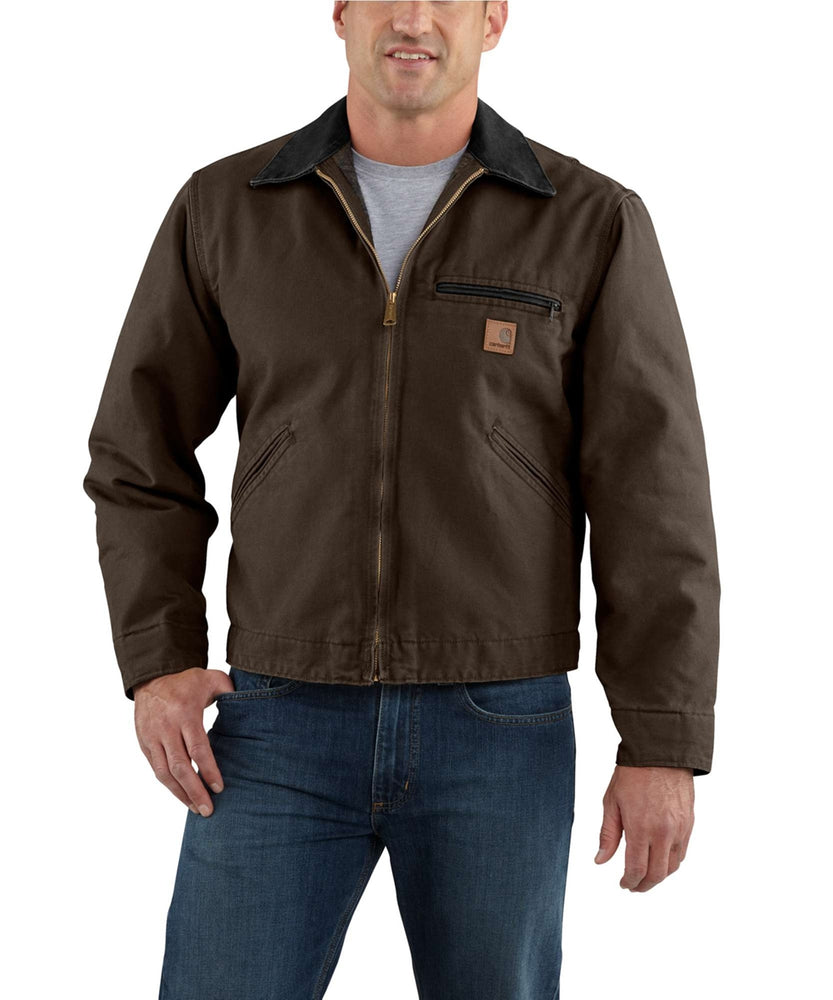 Carhartt Sandstone Detroit Jacket (model J97) – Dark Brown