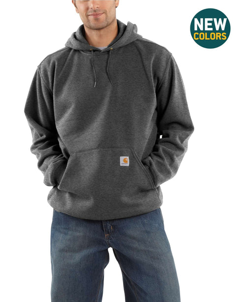 Carhartt K121 Men's Midweight Pullover Hooded Sweatshirt – Carbon Heather