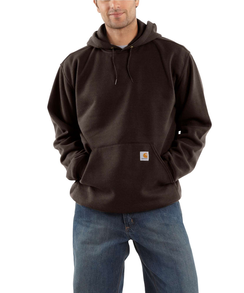 Carhartt K121 Men's Midweight Pullover Hooded Sweatshirt – Dark Brown