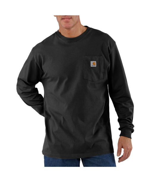 Carhartt K126 Long Sleeve Workwear T-shirt in Black at Dave's New York
