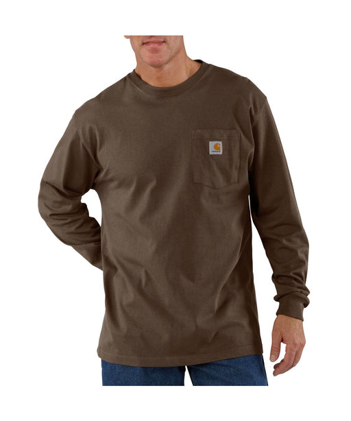 Carhartt K126 Long Sleeve Workwear T-shirt in Dark Brown at Dave's New York
