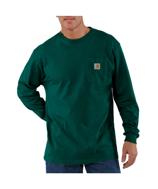 Carhartt K126 Long Sleeve Workwear T-shirt in Hunter Green at Dave's New York