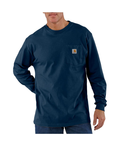 Carhartt K126 Long Sleeve Workwear T-shirt in Navy at Dave's New York